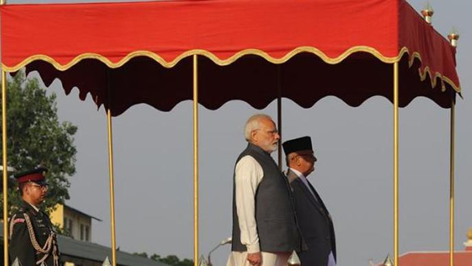 भारतीय प्रधानमन्त्रीलाई टुँडिखेलमा १९ तोपको सलामीसहित गार्ड अफ् अनर