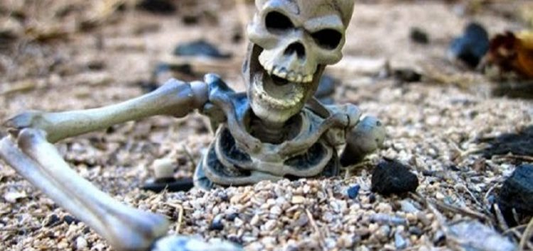 म्याग्दीमा भेटियो मानव हड्डी कंकाल