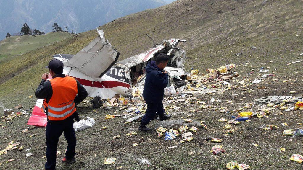 मकालु एयरको जहाज हुम्लामा दुर्घटनाग्रस्त चालक दलका दुई सदस्यको मृत्यु